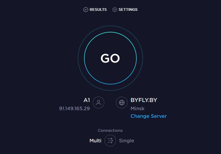 Проверить скорость интернета