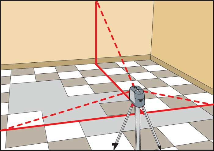 Разметка поверхности под плитку