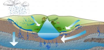 Глубина залегания грунтовых вод Беларуси на карте